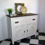 Drop front sideboard