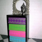 Stenciled Chest of Drawers